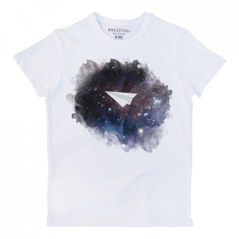 Space Plane baskılı tasarım tişört. %100 pamuklu baskılı tişört. Presstish organik erkek tasarım baskılı tişört çeşitleri. Hediyelik tasarım tshirt. Tişört baskı.