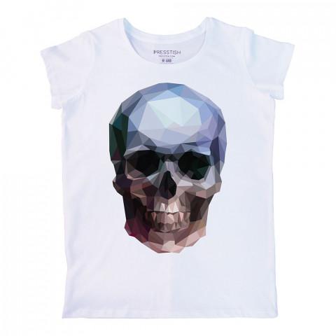 Crystal Skull baskılı tasarım tişört. %100 pamuklu baskılı bayan tişört. Presstish tasarım baskılı tişört. Hediyelik kadın tişört. Tişört baskı. Baskılı tasarım tshirt.