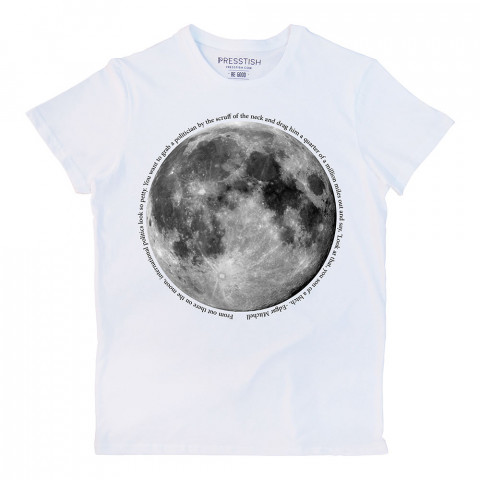 Moon Geo baskılı tasarım tişört. %100 pamuklu baskılı erkek tişört. Presstish tasarım baskılı tişört. Hediyelik erkek tişört. Tişört baskı. Baskılı tasarım tshirt.