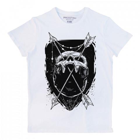 Skull Trap baskılı tasarım tişört. %100 pamuklu baskılı tişört. Presstish organik erkek tasarım baskılı tişört çeşitleri. Hediyelik tasarım tshirt. Tişört baskı.
