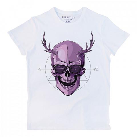 Disco Devil baskılı tasarım tişört. %100 pamuklu baskılı tişört. Presstish organik erkek tasarım baskılı tişört çeşitleri. Hediyelik tasarım tshirt. Tişört baskı.