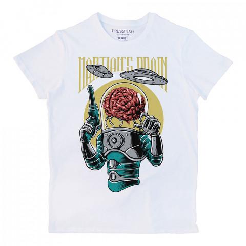 Brain Infestation baskılı tasarım tişört. %100 pamuklu baskılı tişört. Presstish organik erkek tasarım baskılı tişört çeşitleri. Hediyelik tasarım tshirt. Tişört baskı.
