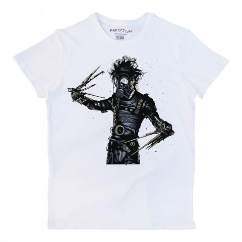 Edward Scissorhands In Park baskılı tasarım tişört. %100 pamuklu baskılı tişört. Presstish organik erkek tasarım baskılı tişört çeşitleri. Hediyelik tasarım tshirt.