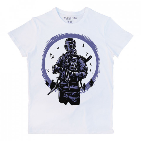 Toxic Dawn baskılı tasarım tişört. %100 pamuklu baskılı tişört. Presstish organik erkek tasarım baskılı tişört çeşitleri. Hediyelik tasarım tshirt. Tişört baskı.