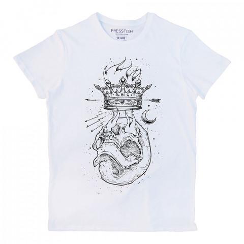 Crown Ambition baskılı tasarım tişört. %100 pamuklu baskılı tişört. Presstish organik erkek tasarım baskılı tişört çeşitleri. Hediyelik tasarım tshirt. Tişört baskı.