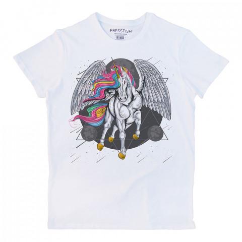 Godspeed Younicorn baskılı tasarım tişört. %100 pamuklu baskılı tişört. Presstish organik erkek tasarım baskılı tişört çeşitleri. Hediyelik tasarım tshirt. Tişört baskı.