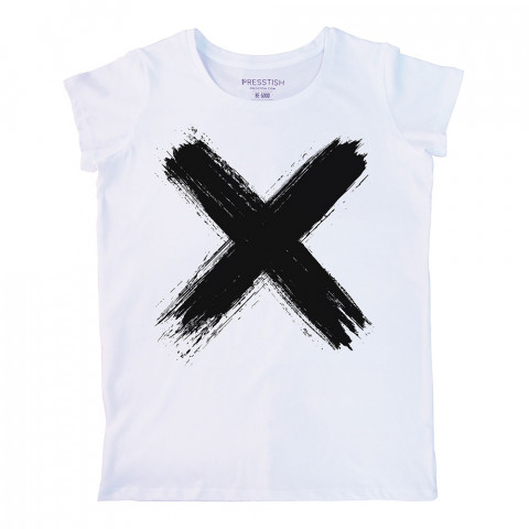 Mortal Sign baskılı tasarım tişört. %100 pamuklu baskılı bayan tişört. Presstish tasarım baskılı tişört. Hediyelik kadın tişört. Tişört baskı. Baskılı tasarım tshirt.