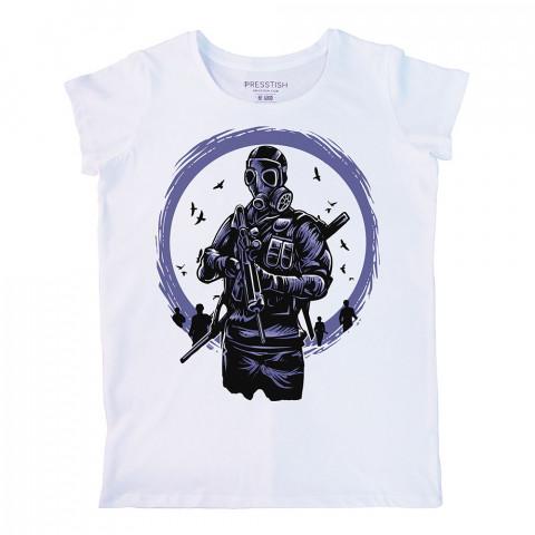 Toxic Dawn baskılı tasarım tişört. %100 pamuklu baskılı bayan tişört. Presstish tasarım baskılı tişört. Hediyelik kadın tişört. Tişört baskı. Baskılı tasarım tshirt.