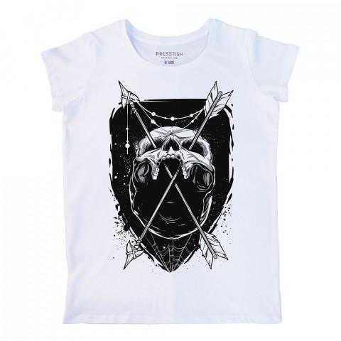 Skull Trap baskılı tasarım tişört. %100 pamuklu baskılı bayan tişört. Presstish tasarım baskılı tişört. Hediyelik kadın tişört. Tişört baskı. Baskılı tasarım tshirt.