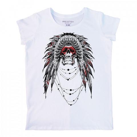 Ornate Skull baskılı tasarım tişört. %100 pamuklu baskılı bayan tişört. Presstish tasarım baskılı tişört. Hediyelik kadın tişört. Tişört baskı. Baskılı tasarım tshirt.