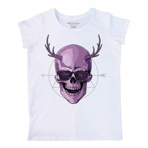 Disco Devil baskılı tasarım tişört. %100 pamuklu baskılı bayan tişört. Presstish tasarım baskılı tişört. Hediyelik kadın tişört. Tişört baskı. Baskılı tasarım tshirt.