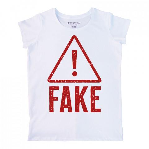 Hey Fake! baskılı tasarım tişört. %100 pamuklu baskılı bayan tişört. Presstish tasarım baskılı tişört. Hediyelik kadın tişört. Tişört baskı. Baskılı tasarım tshirt.