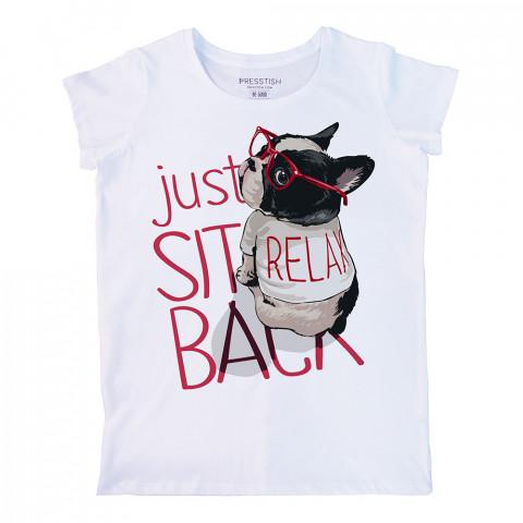 Be Relax Bro baskılı tasarım tişört. %100 pamuklu baskılı bayan tişört. Presstish tasarım baskılı tişört. Hediyelik kadın tişört. Tişört baskı. Baskılı tasarım tshirt.