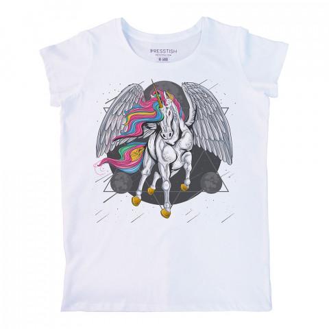 Godspeed Younicorn baskılı tasarım tişört. %100 pamuklu baskılı bayan tişört. Presstish tasarım baskılı tişört. Hediyelik kadın tişört. Tişört baskı. Tasarım tshirt.