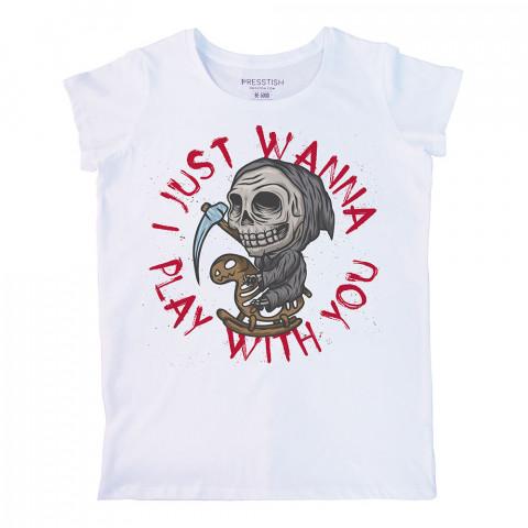 Don't Be Afraid baskılı tasarım tişört. %100 pamuklu baskılı bayan tişört. Presstish tasarım baskılı tişört. Hediyelik kadın tişört. Tişört baskı. Baskılı tasarım tshirt.