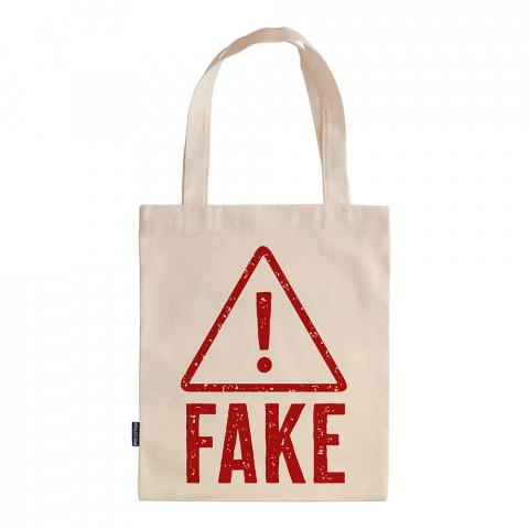 Hey Fake! tasarım baskılı ham bez çanta. 35x41. Hediyelik bez çanta modelleri. En güzel bez çantalar. Dayanıklı, modaya uygun bez çantalar. Organik baskılı bez çanta.