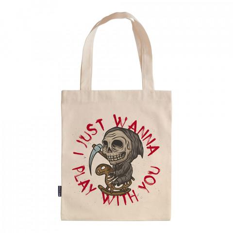 Don't Be Afraid tasarım baskılı ham bez çanta. 35x41. Hediyelik bez çanta modelleri. En güzel bez çantalar. Dayanıklı, modaya uygun bez çantalar. Organik bez çanta.