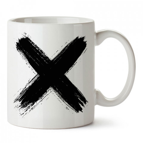 Mortal Sign baskılı tasarım porselen kupa bardak (mug). Presstish marka, resimli, en güzel hediyelik kupa bardak modelleri. Tasarım kahve kupası. Baskılı mug bardak.