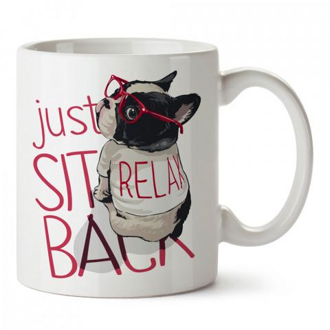 Be Relax Bro baskılı tasarım porselen kupa bardak (mug). Presstish marka, resimli, en güzel hediyelik kupa bardak modelleri. Tasarım kahve kupası. Baskılı mug bardak.