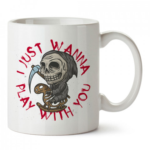 Don't Be Afraid baskılı tasarım porselen kupa bardak (mug). Presstish marka, resimli, en güzel hediyelik kupa bardak modelleri. Tasarım kahve kupası. Baskılı mug bardak.