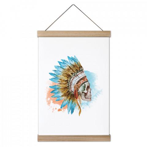 American Indian Skull Ahşap Çerçeveli Kanvas Poster dekorasyonlarınız için harika bir seçim. Ev ve ofisleriniz Presstish duvar süsleri ile modern bir görünüm kazanıyor.