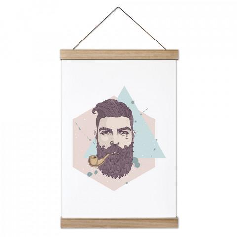 Bearded Hipster Ahşap Çerçeveli Kanvas Poster duvar süsü arayanlar için harika bir seçim. Ev ve ofis dekorasyonlarınızda duvarlarınıza modern bir görünüm kazandıracak.