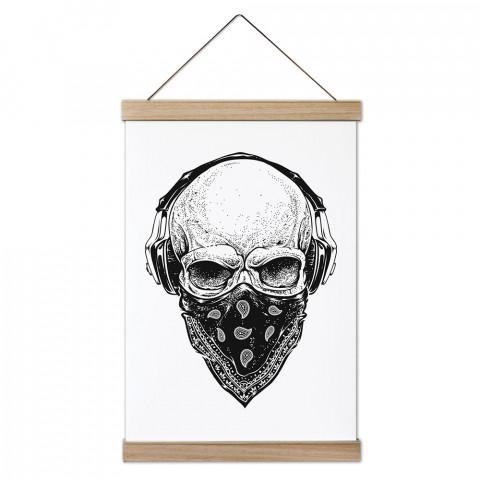 Gangsta Skull Ahşap Çerçeveli Kanvas Poster, duvar dekorasyonlarınız için harika bir seçim. Ev ve ofisleriniz Presstish duvar süsleri ile modern bir görünüm kazanıyor.