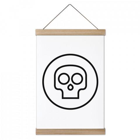 Mini Skull Ahşap Çerçeveli Kanvas Poster, duvar dekorasyonlarınız için harika bir seçim. Ev ve ofisleriniz Presstish duvar süsleri ile şık bir görünüm kazanıyor.