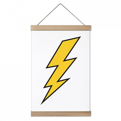 Thunder Ahşap Çerçeveli Kanvas Poster, duvar dekorasyonlarınız için harika bir seçim. Ev ve ofisleriniz Presstish duvar süsleri ile şık bir görünüm kazanıyor.