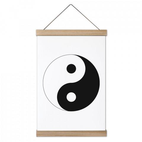 Yin Yang Ahşap Çerçeveli Kanvas Poster duvar süsü arayanlar için harika bir seçim. Ev ve ofis dekorasyonlarınızda duvarlarınıza modern bir görünüm kazandıracak.