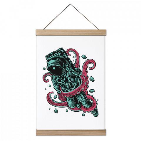 Alien Octopus Ahşap Çerçeveli Kanvas Poster, duvar dekorasyonlarınız için harika bir seçim. Ev ve ofisleriniz Presstish duvar süsleri ile şık bir görünüm kazanıyor.
