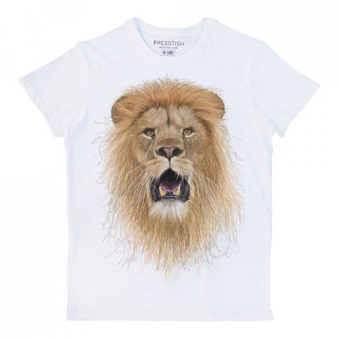 Halim Yalçın'ın Presstish için tasarladığı, tamamen el çiziminden oluşan bu aslan, en sevdiğiniz tasarım baskılı tişörtünüz olacak.