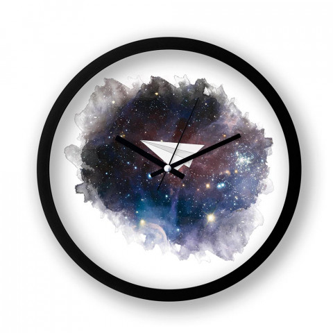 Space Plane resimli duvar saati. Presstish tasarım baskılı duvar saati. Sessiz akar siyah duvar saati. En güzel duvar saatleri. Hediyelik şık dekoratif duvar saatleri.