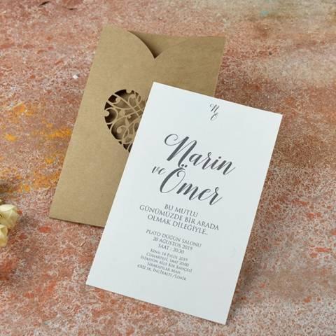 kraft düğün davetiyesi