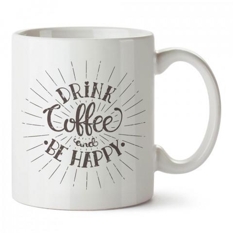 Kahve Her Zaman İyi Bir Fikirdir yazılı kaliteli baskılı porselen kupa bardak modelleri (mug bardak). Kahve severler için en güzel hediye. Kahve kupası.
