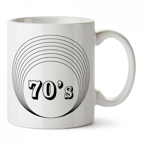 70ler retro tasarımlı baskılı porselen kupa bardak modelleri (mug bardak). Retro severler için en güzel hediye. Kahve kupası.