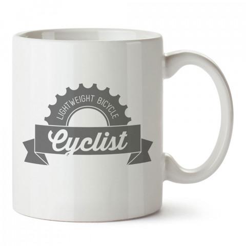 Cyclist Bisikletçi tasarım baskılı porselen kupa bardak modelleri (mug bardak). Kahve kupası.