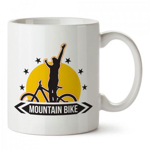 Mountain Bike Dağ Bisikleti tasarı baskılı porselen kupa bardak modelleri (mug bardak). kahve kupası.
