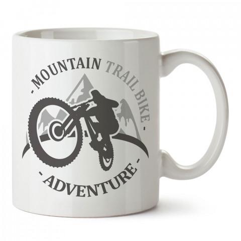 Dağ Bisikleti Macera tasarım baskılı porselen kupa bardak modelleri (mug bardak). Kahve kupası.
