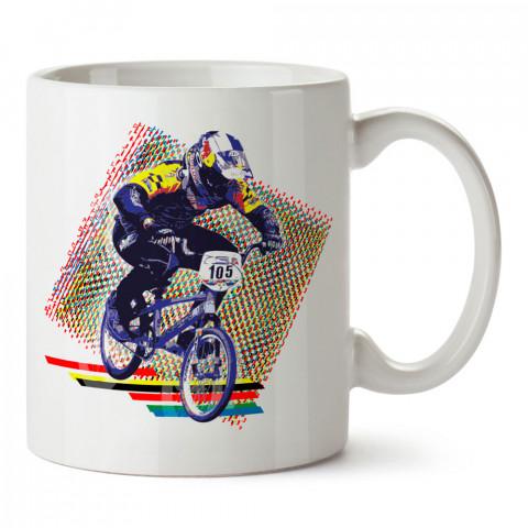 Kros Bisiklet Yarışı tasarım baskılı porselen kupa bardak modelleri (mug bardak). Kahve kupası.