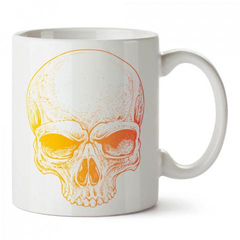 Güneş Işığı Kuru Kafa tasarım baskılı porselen kupa bardak modelleri (mug bardak). Kahve kupası.