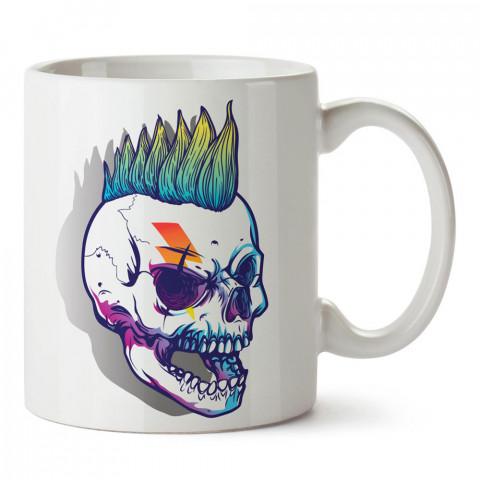 David Bowie Punk Kuru Kafa tasarım baskılı porselen kupa bardak modelleri (mug bardak). Kahve kupası.