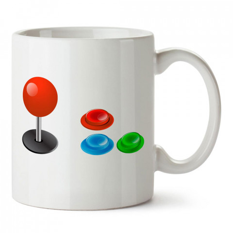 Atari Oyun Kolu tasarım baskılı porselen kupa bardak modelleri (mug bardak). Kahve kupası.