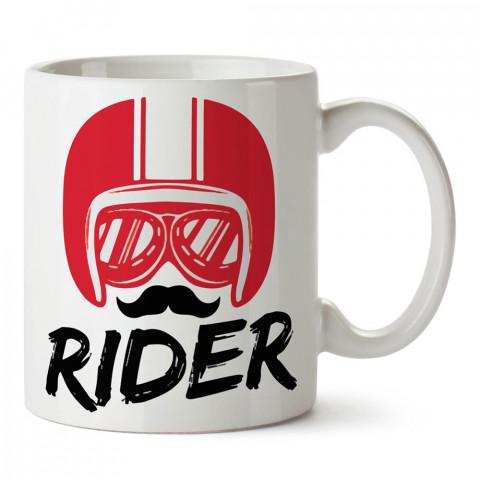 Kırmızı Kask Rider Motosiklet tasarım baskılı porselen kupa bardak modelleri (mug bardak). Kahve kupası.