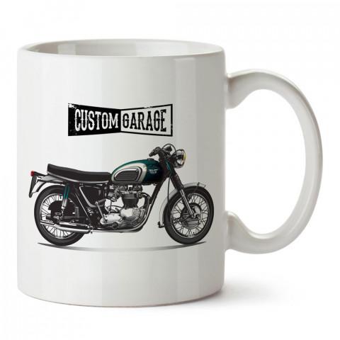Özel Garaj Motosiklet tasarım baskılı porselen kupa bardak modelleri (mug bardak). Kahve kupası.