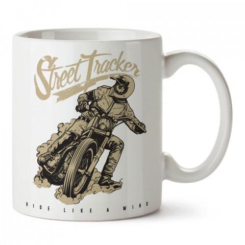 Rüzgar Gibi Sür Motosiklet tasarım baskılı porselen kupa bardak modelleri (mug bardak). Kahve kupası.