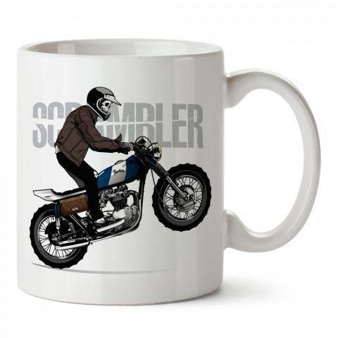Scrambler Ducati Motosiklet tasarım baskılı porselen kupa bardak modelleri (mug bardak). Kahve kupası.
