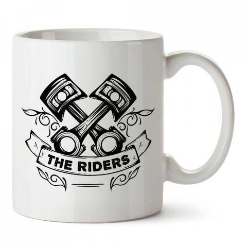 The Riders Çizim Motosiklet tasarım baskılı porselen kupa bardak modelleri (mug bardak). Kahve kupası.