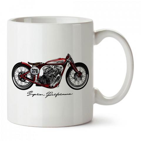 Üstün Performans Motosiklet tasarım baskılı porselen kupa bardak modelleri (mug bardak). Kahve kupası.