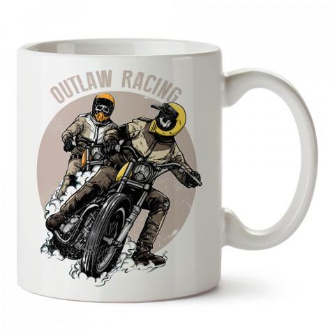 Yasa Dışı Motosiklet Yarışçıları tasarım baskılı porselen kupa bardak modelleri (mug bardak). Kahve kupası.